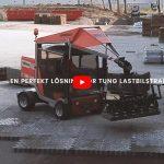 Maskinlägga marksten på logistikcentral i Helsingborg