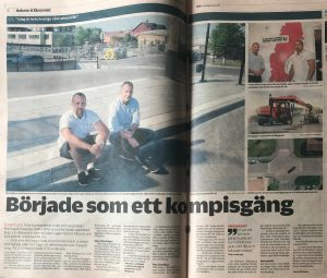 Artikel om Stenteknik i Nya Wermlands-tidningen, skriven av Jonny Ohlsson