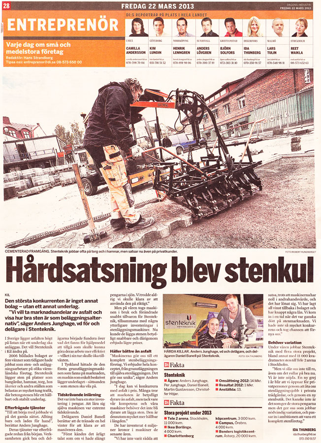 Dagens Industri - 22:e mars 2013