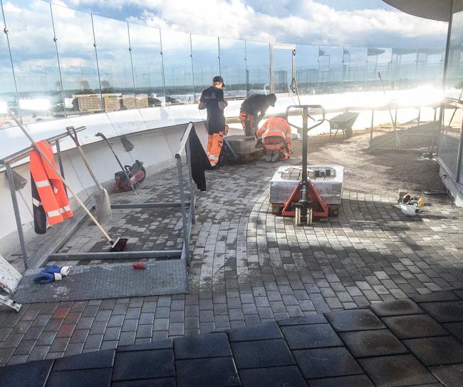 Beläggningsarbete – Svampen i Örebro