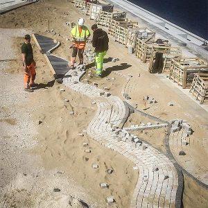Stenläggning i offentlig miljö