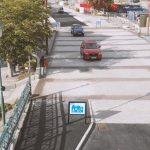 Gångfartsområde i Norrtälje som ska tåla tung trafik, byggt av granithällar
